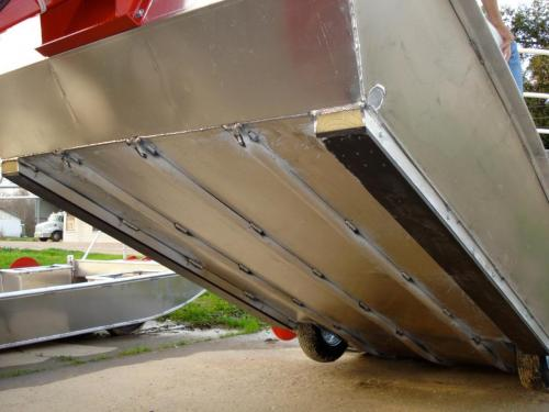 Venable Fabricators UHMW skids on Crawfish boat