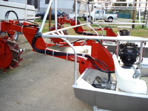 Venable Fabricators back end of Crawfish boat